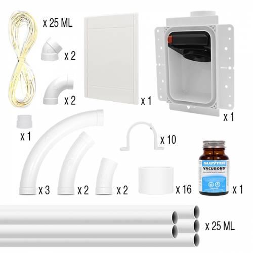 aspirateur dans les murs nadair speedflex kit de montage