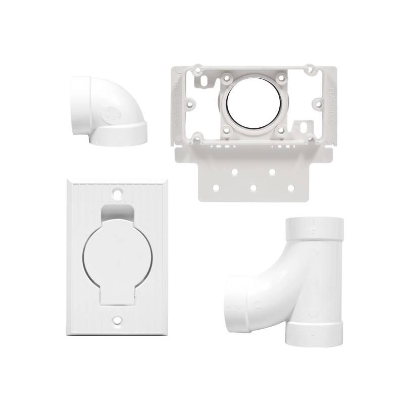 Kit 1 prise rectangulaire pour aspirateur centralisé