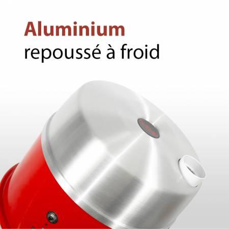 Aspirateur centralisé avec cuve en aluminium repoussé a froid