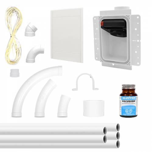 Kit RETRAFLEX officiel avec boite de montage, facade, coudes et réseau de canalisation
