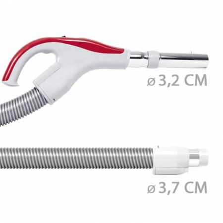 Flexible aspirateur centralisé diametre 32mm coté poignée et 37mm coté prise