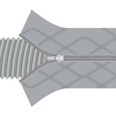 Chaussette de protection flexible d'aspirateur centralisé a fermeture eclair