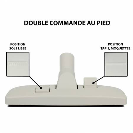 Double bouton pour s'adapter a tous  les sols de votre habitation