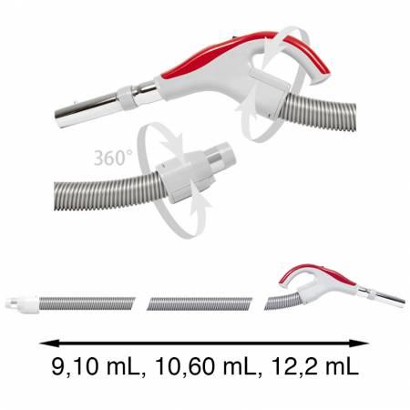 Flexible aspirateur centralisé 360° coté prise et coté poignée