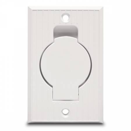 Prise rectangle blanche pour aspirateur centralisé