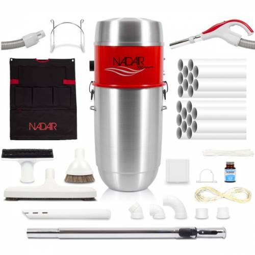 Pack aspirateur centralisé NADAIR 700 Airwatts 32L. Système d'aspiration centralisé complet prêt a installer