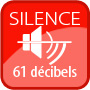 Silencieux moins de 61 décibels