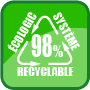 98% recyclable